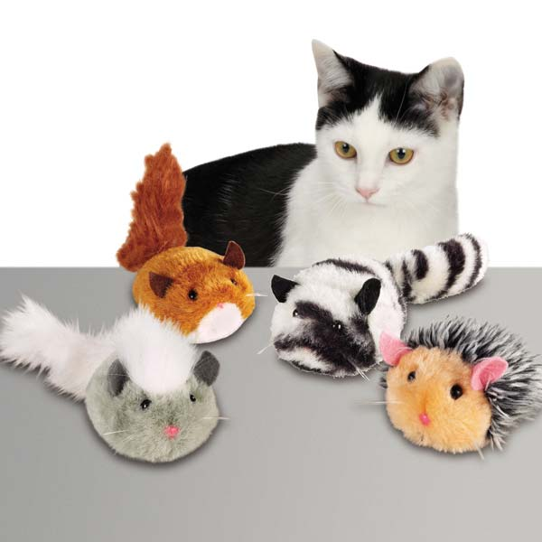 Zanies Plush Skedaddales Cat Toy