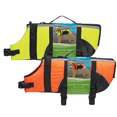 Guardian Gear Dog Swimming Safety Aquatic Orange Reflective Vest