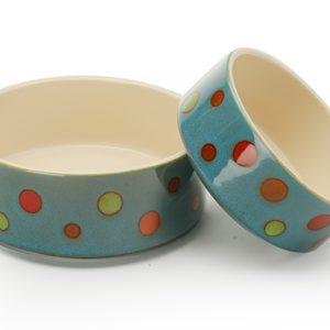 Signature Housewares Dots Pet Bowls