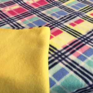 Buddy Blanket Reversible Fleece Yellow Plaid