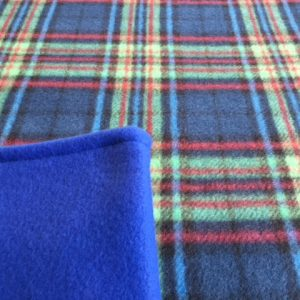 Buddy Blanket Reversible Fleece Blue Tartan