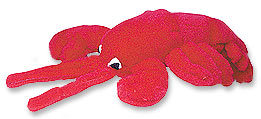 Multipet Look Whos Talking Lobster Plush Dog Toy