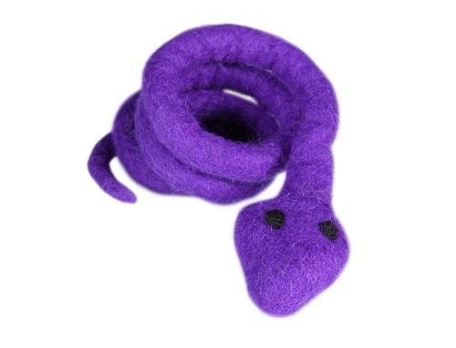 Wooly Wonkz Safari Snake Cat Toy