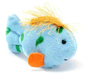 Multipet Look Whos Talking Plush Cat Toy Fish