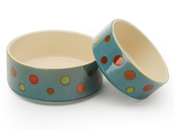 Signature Housewares Dots Pet Bowls