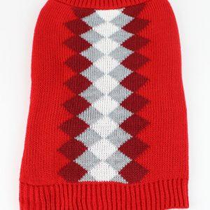 Midlee Argyle Dog Sweater