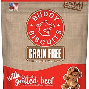Buddy Biscuits Grain Free Soft Chewy Grilled Beef