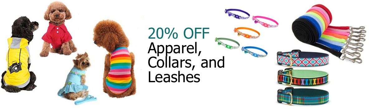 Buddy's A Pet's Store - May Sale - Apparel, Leashes, Collars