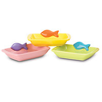 Petrageous Teeny Tiny Fish Rectangle Cat Bowl