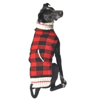 Chilly Dog Buffalo Plaid Dog Sweater