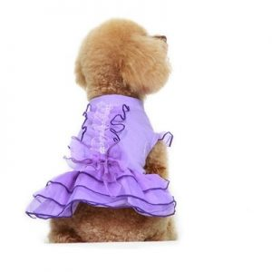 Parisian Pet Ruffled Party Dog Dress