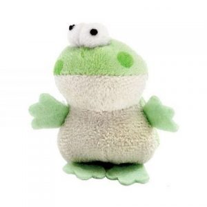 Multipet Look Whos Talking Plush Cat Toy Frog
