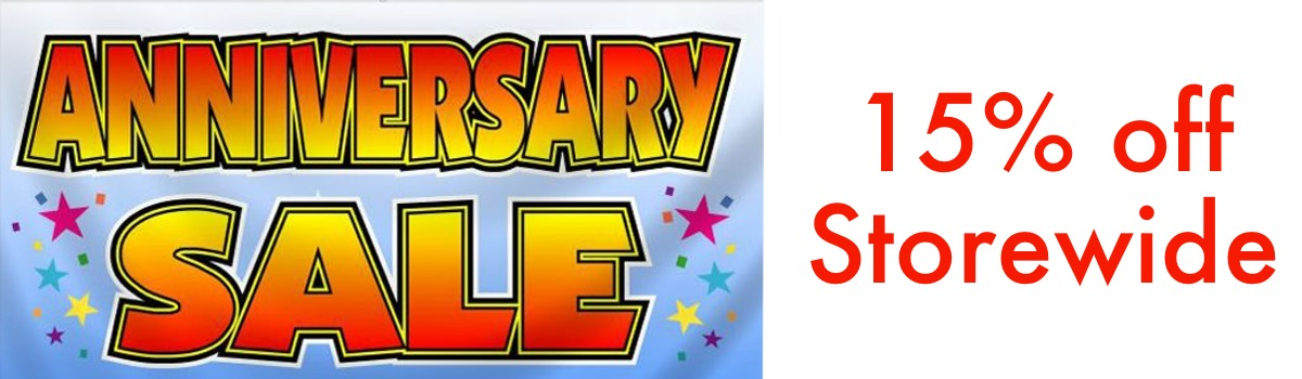 Anniversary Sale. 15% Off