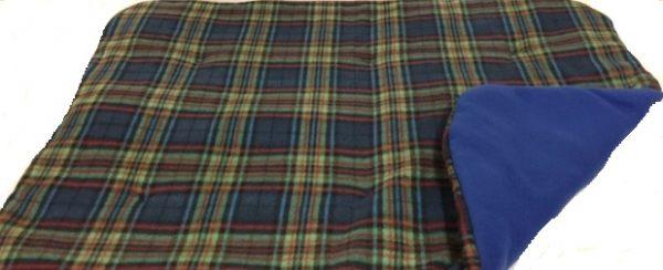 Buddy's Blue Tartan Slumber Pad