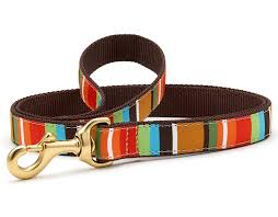 Up Country Designer Brown Stripe Dog Leash