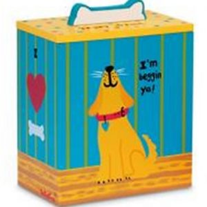 Up Country Hand Painted Yellow Dog Treat Box