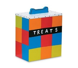 Up Country Hand Painted Multi Color Dog Treat Box