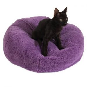 Petmate Jackson Galaxy Comfy Purple Dumpling Cat Bed